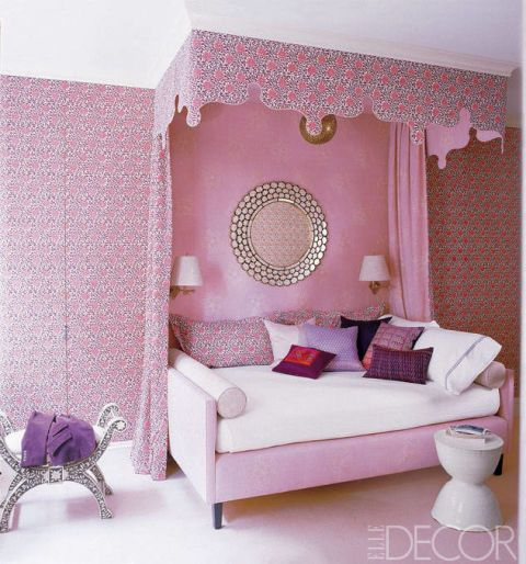 Interior design, Room, Wall, Purple, Pink, Furniture, Couch, Floor, Home, Interior design,