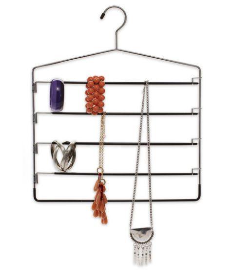 five rung pants hanger jewelry organizer