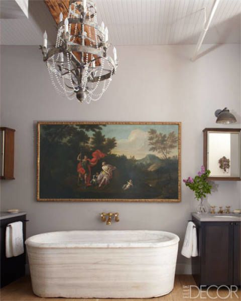 Room, Interior design, Property, Wall, Interior design, Ceiling, Picture frame, Light fixture, Bathtub, Cabinetry,