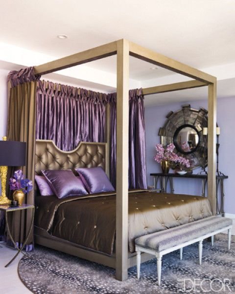Wood, Room, Interior design, Bed, Purple, Floor, Furniture, Wall, Bedding, Hardwood,