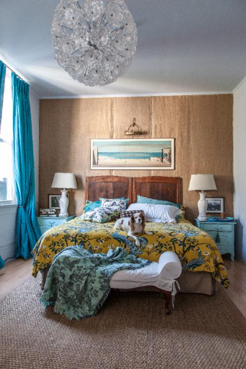 Blue, Room, Interior design, Green, Textile, Floor, Home, Wall, Furniture, Flooring,