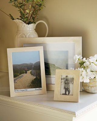 DIY: Pearlescent Picture Frames