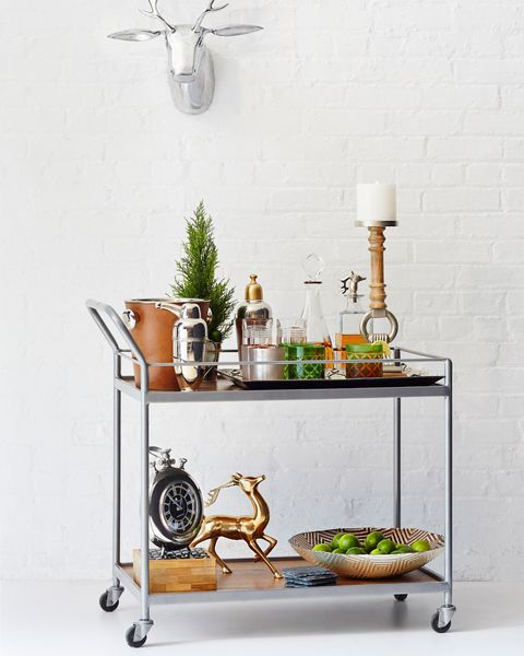 rustic modern bar cart