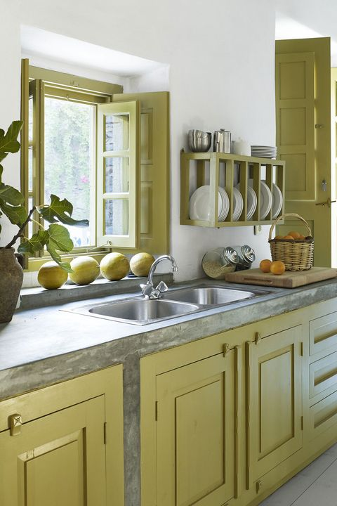 24 green kitchen design ideas paint colors for green - Pictures of painted kitchen cabinets ideas ...
