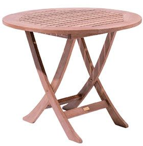 Teak Folding Café Table From Landsu0027 End $325. A Super Value From The  Company Better Known For Turtlenecks. Open Slats Allow The 39 Inch Diameter  Top To ...