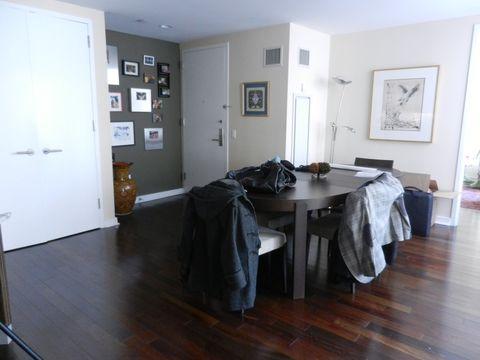 Floor, Flooring, Room, Wood, Tablecloth, Interior design, Hardwood, Wood flooring, Fixture, Linens,