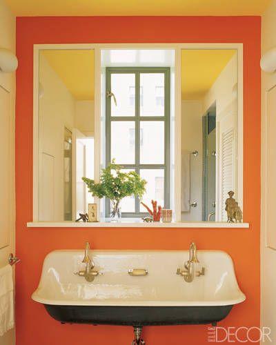 best bathroom colors ideas for bathroom color schemes elle decor - Bathroom Decorating Ideas Colors