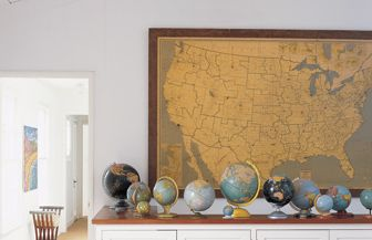 Inexpensive Map Wall Art - Decorating With Maps