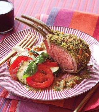 Rack of Lamb with Tian of Zucchini, Tomato, and Ricotta Recipe