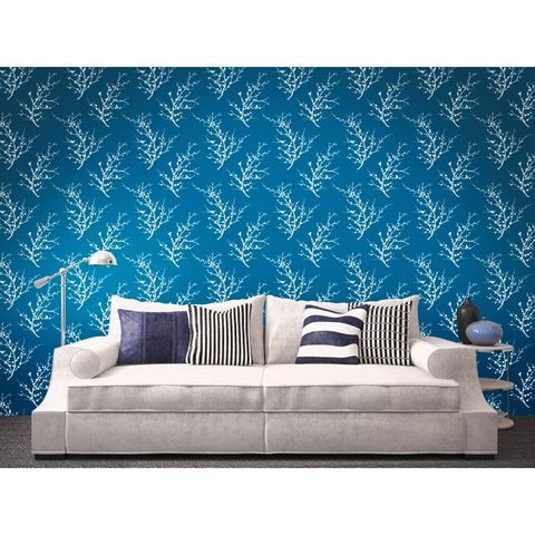 Blue, Green, Room, Furniture, Living room, Interior design, Wall, White, Couch, Turquoise,