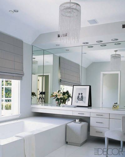 55 bathroom lighting ideas for every style modern light for Elle decor bathrooms