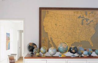 Maps as Inexpensive Wall Art