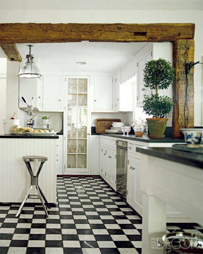 black and white floor tile kitchen.  20 Black And White Kitchen Design Decor Ideas