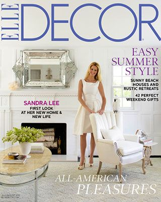 see below for this months table of contents - Elle Decor Magazine
