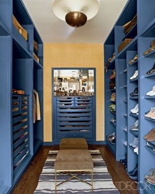 Blue, Room, Interior design, Shelf, Shelving, Wall, Ceiling, Floor, Light fixture, Ceiling fixture,