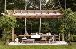 Nature, Wood, Property, Tree, Furniture, Table, Outdoor furniture, Real estate, Outdoor table, Shade,