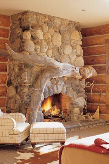 Image William Waldron Driftwood Mantel