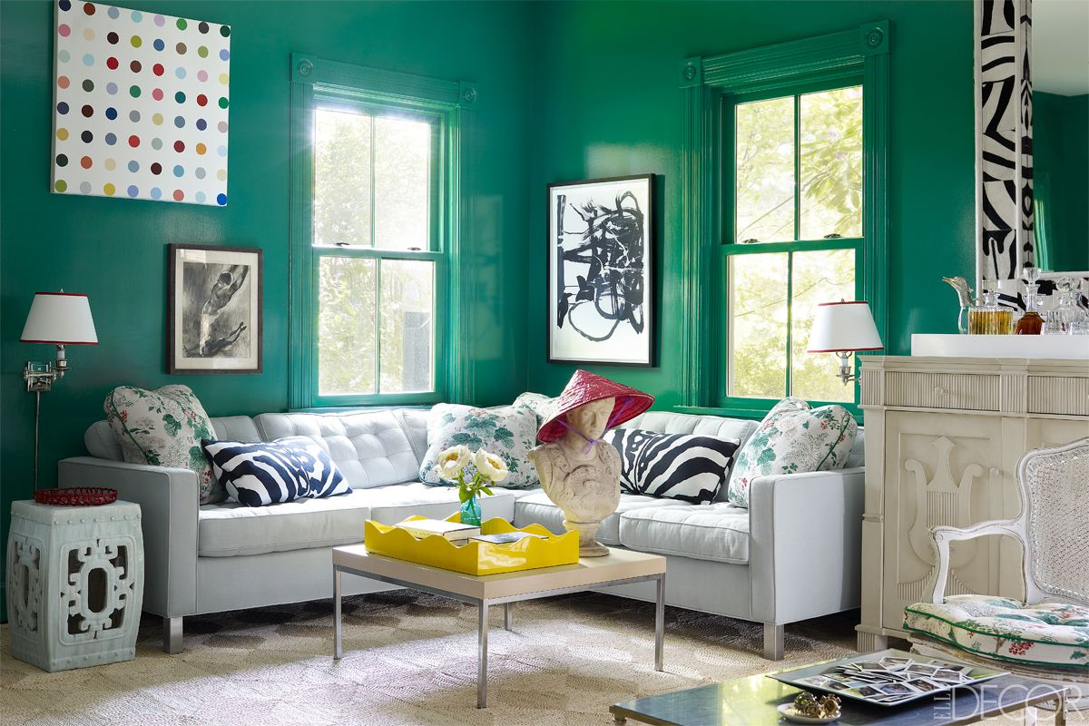 Green Paint Colors For Bedrooms Awesome Best Green Rooms  Green Paint Colors And Decor Ideas Decorating Inspiration
