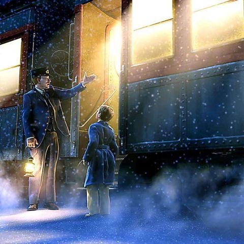 Winter, Overcoat, Frock coat, Snow, Painting, Lens flare, Precipitation,