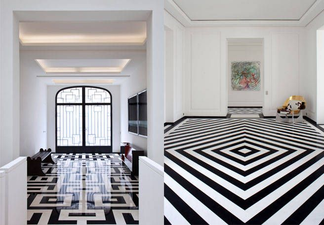 black and white tile floor.  Best Black and White Tile Pierre Yovanovitch Designs