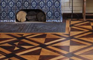 Floor, Flooring, Elephant, Arch, Rectangle, Tile, Tile flooring, Triangle,