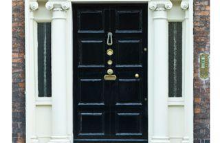 Wood, Architecture, Property, Door, White, Home door, House, Facade, Fixture, Black,