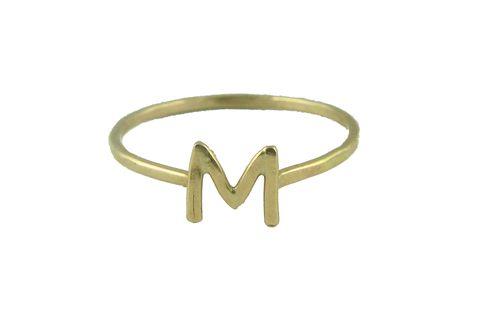 melissa joy manning gold alphabet ring