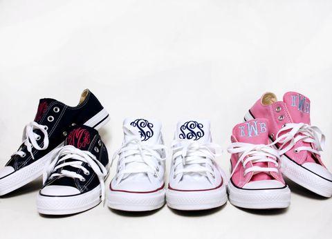 bespoke monogrammed converse sneakers