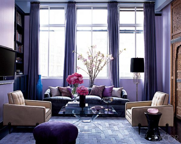 25 Purple Room Decorating Ideas - How to Use Purple Walls & Decor