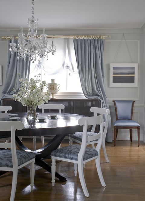 powder blue dining room