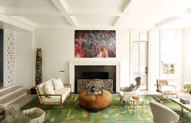 Anthony Iannacci\'s Book Design In The Hamptons Living Room Photos