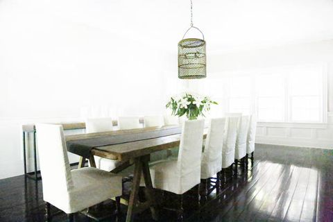 Table, Hardwood, Wood flooring, Linens, Desk, Flower Arranging, Laminate flooring,