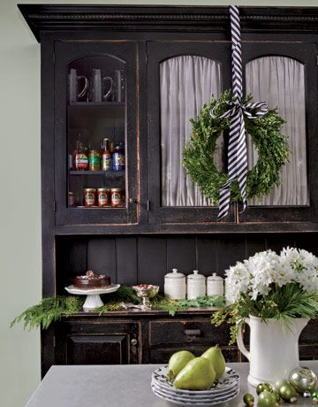 cabinet with wreath