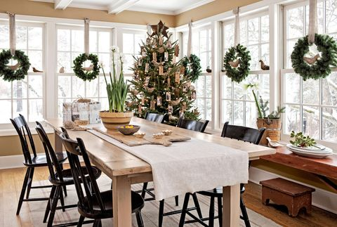 holiday decor in a connecticut home