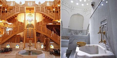 Interior design, Ceiling, Interior design, Light fixture, Plumbing fixture, Hall, Tap, Sink, Plumbing,