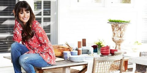 Leg, Denim, Jeans, Sitting, Furniture, Table, Outdoor furniture, Flowerpot, Outdoor table, Thigh,