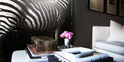 Zebra, Interior design, Room, Wall, Furniture, Style, Table, Couch, Living room, Interior design,