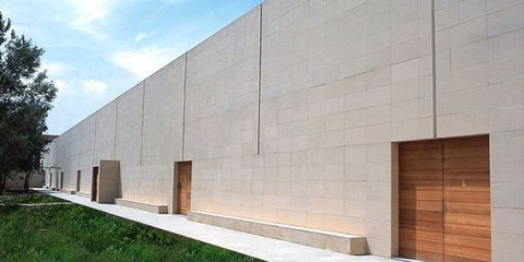 Architecture, Property, Wall, Facade, Line, Real estate, Land lot, Concrete, Composite material, Rectangle,