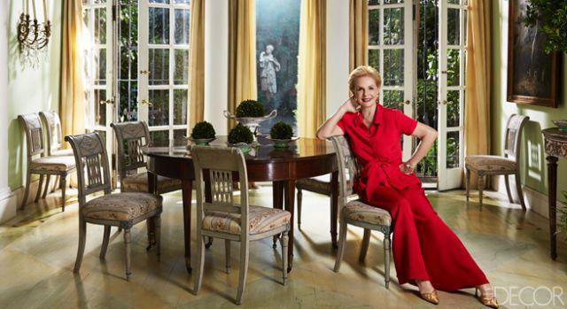 Fashion 4 Home carolina herrera york dining room fashion designers at home