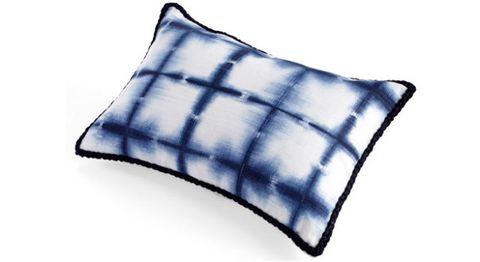 Blue, Textile, Cushion, Pillow, Throw pillow, Linens, Electric blue, Cobalt blue, Azure, Home accessories,