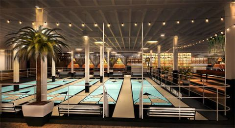 Swimming pool, Ceiling, Arecales, Composite material, Rectangle, Beam, Light fixture, Palm tree, Hotel, Resort,
