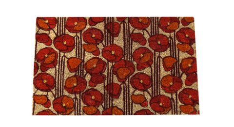 Pattern, Red, Orange, Colorfulness, Maroon, Rectangle, Visual arts, Rug, Coquelicot, Circle,
