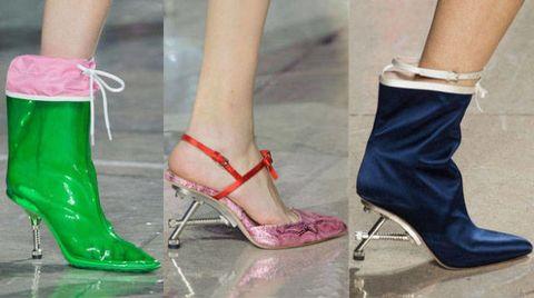Footwear, Green, High heels, Joint, Red, Human leg, Pink, Fashion, Sandal, Foot,