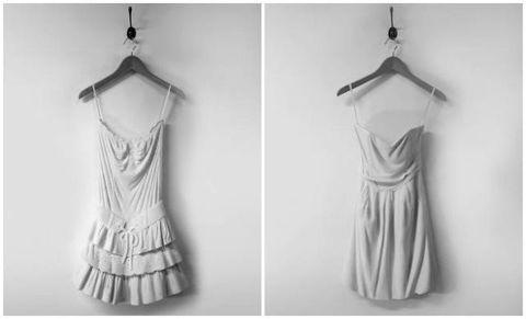 Sleeve, Pattern, White, Dress, Style, One-piece garment, Collar, Day dress, Fashion, Neck,