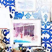 Blue, Majorelle blue, Paint, Art, Painting, Visual arts, Artwork, Illustration, Drawing, Art paint,