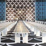 Architecture, Floor, Flooring, Hall, Design, Symmetry, Tile,