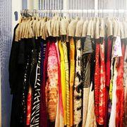 Textile, Clothes hanger, Collection, Closet, Natural material, Fashion design, Retail, Market,
