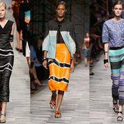 Clothing, Footwear, Joint, Fashion show, Style, Street fashion, Runway, Fashion, Pattern, Neck,