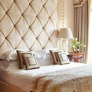 Room, Interior design, Lampshade, Lamp, Textile, Bed, Bedding, Wall, Linens, Bed sheet,