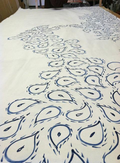 Floor, Motif, Linens, Visual arts, Drawing,